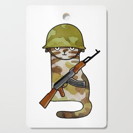 Infantry Fighter Cat Cutting Board