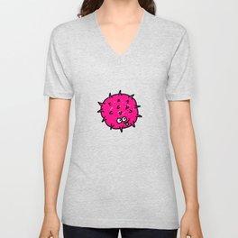Pink Doodle Germ Unisex V-Neck