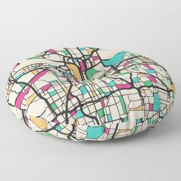 Colorful City Maps: Kansas City, Missouri Floor Pillow