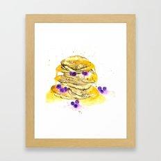 fluffy pancake Framed Art Print