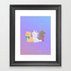 three aristocats..  Framed Art Print
