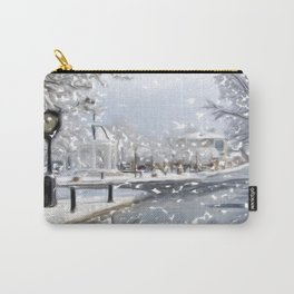 Snowy Day on Mainstreet2 Carry-All Pouch