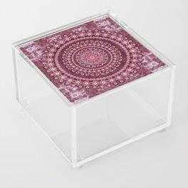 Boho Rosewood Mandala Acrylic Box