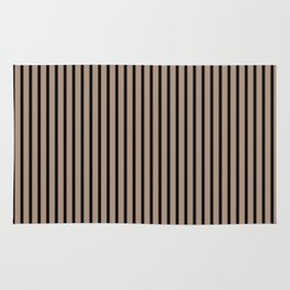 Warm Taupe and Black Stripes Rug