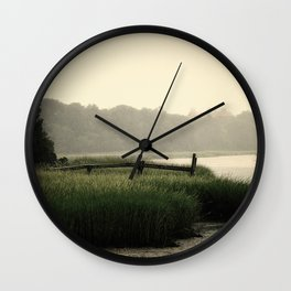 Rain on a summer day on Long Island Wall Clock