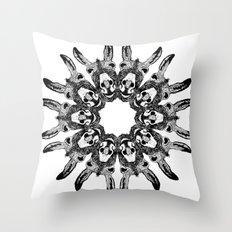 Donkey Kaleidoscope  Throw Pillow