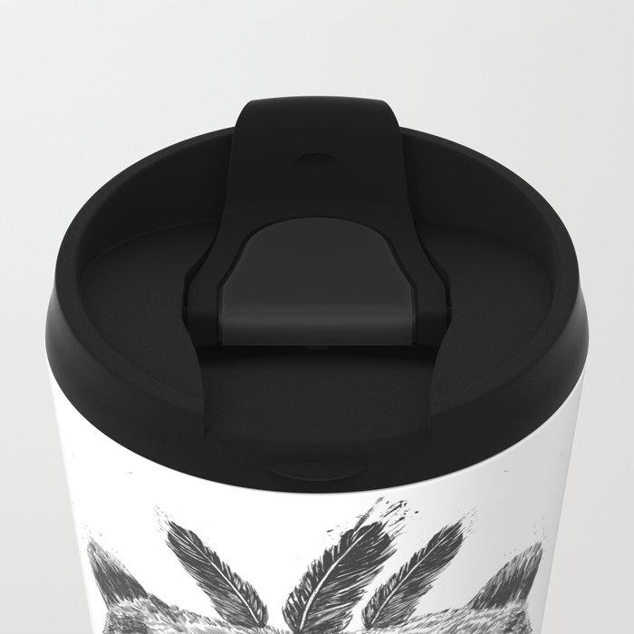 Dead shaman (b&w) Metal Travel Mug