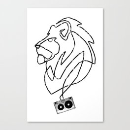 Lion Tape Art Canvas Print