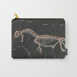 Dilophosaurus Wetherilli Skeleton Study Carry-All Pouch
