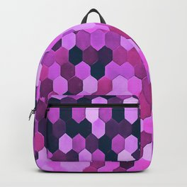 Honeycomb Pattern In Purples and Pinks Backpack