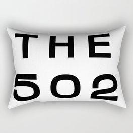 502 Kentucky Area Code Typography Rectangular Pillow