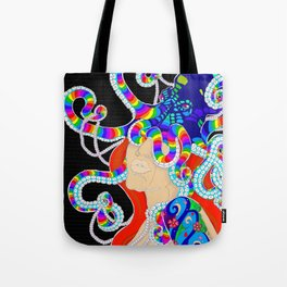 Rainbow Witch Under The Sea Tote Bag