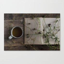 tea & book Canvas Print