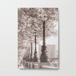 Leafy Promenade Metal Print