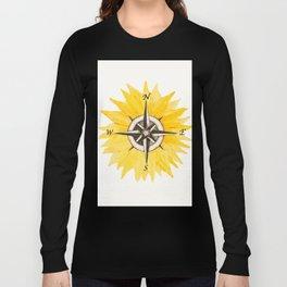 Compass  Sunflower Long Sleeve T-shirt