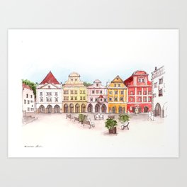 Urban square Art Print