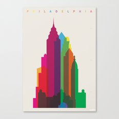 Shapes of Philadelphia accurate to scale Canvas Print