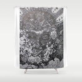 Spiritually Smoking Shower Curtain