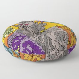 Other Worlds: The Mushroom Gathering II Floor Pillow