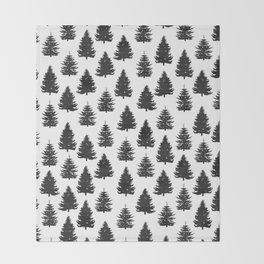 pine trees Throw Blanket