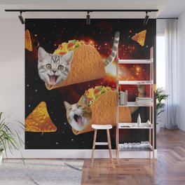 Taco Cats Space Wall Mural