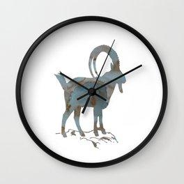 Capra ibex Wall Clock