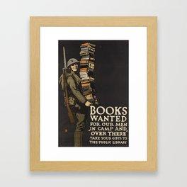 Books Wanted Framed Art Print