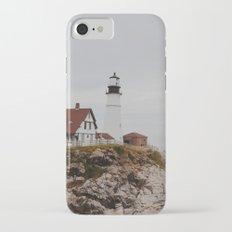 Maine lighthouse iPhone 7 Slim Case