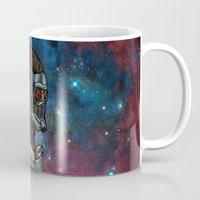 star lord Mugs featuring Star Lord Legendary Outlaw by Victoria Jennings