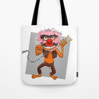 motivational Tote Bags featuring Motivational Animal by Franky Plata