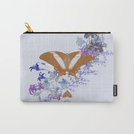 Gold Butterfly Flower Jungle Carry-All Pouch