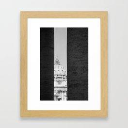 BETWEEN THE LINES. Framed Art Print