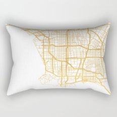 LOS ANGELES CALIFORNIA CITY STREET MAP ART Rectangular Pillow