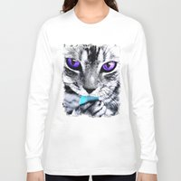 thundercats Long Sleeve T-shirts featuring Purple eyes Cat by Augustinet