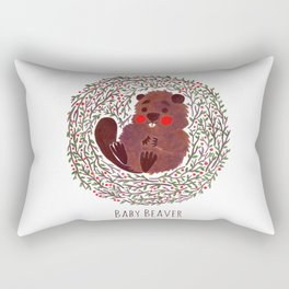 Baby Beaver Rectangular Pillow