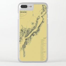 Map of Lake George 1855 Clear iPhone Case