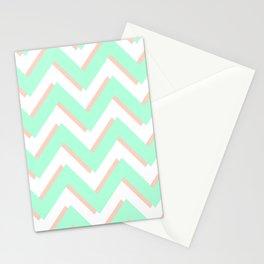3D CHEVRON MINT/PEACH Stationery Cards