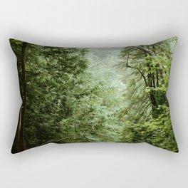Deep Green Forest Rectangular Pillow