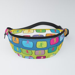Abstract colorful seamless background with stylized kids Fanny Pack