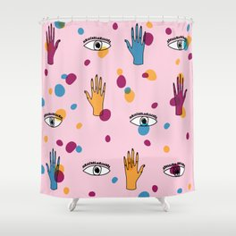 I see you getting handsy. Shower Curtain