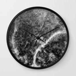 Abstract Black And White Nebula Wall Clock