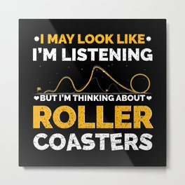 Roller Coaster Enthusiast Metal Print
