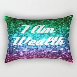 Wealth Affirmation Galaxy Sparkle Stars Rectangular Pillow