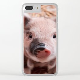 Sweet piglet Clear iPhone Case