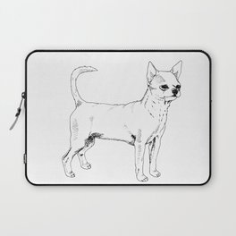 Chihuahua Ink Drawing Laptop Sleeve