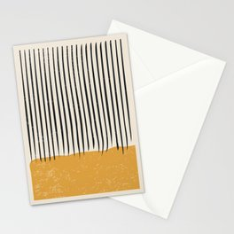 Mid Century Modern Minimalist Rothko Inspired Color Field With Lines Geometric Style Stationery Cards