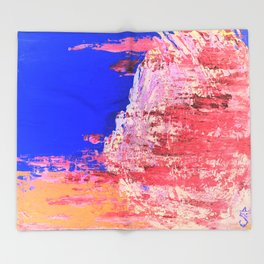 Into the Mist Pantone Color of the Year 2016 Abstract Throw Blanket