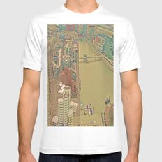 Duesseldorf Medienhafen View from the Tower MEDIUM White Mens Fitted Tee