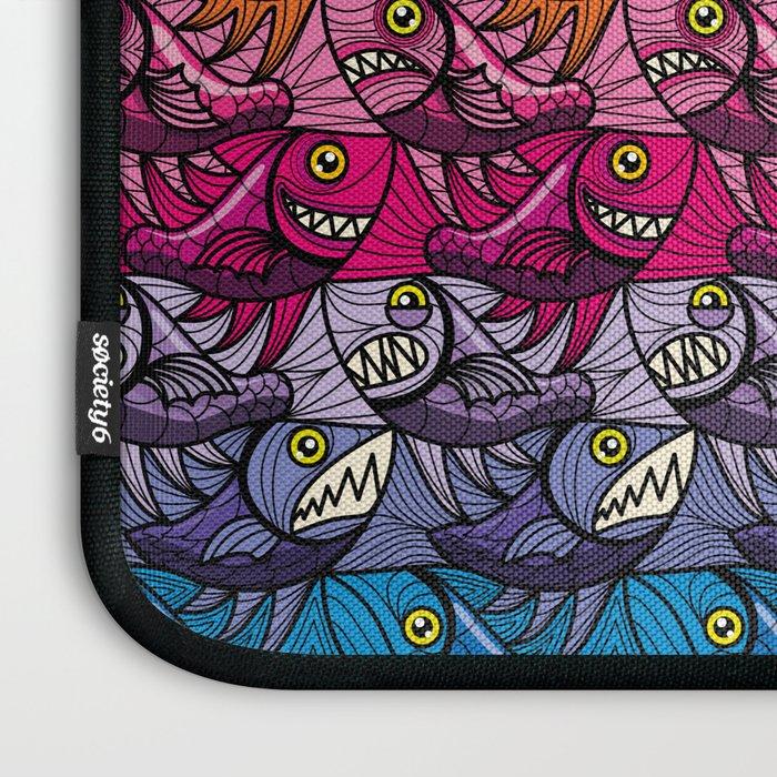 Escher Fish Rainbow Pattern Laptop Sleeve