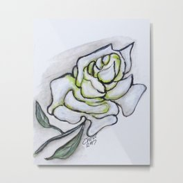 Stunning White Rose Metal Print